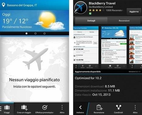 BlackBerry - BlackBerry Travel, organizzare un viaggio con BlackBerry 10 rilascia la versione 3.2.1.3 | TOUR OPERATOR. Stili, strategie e comunicazione per un turismo sempre più informato e competitivo. | Scoop.it