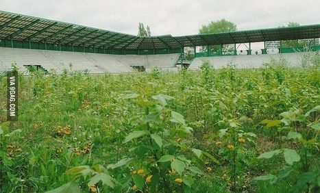 Abandoned football field - Nature strikes back! | Modern Ruins, Decay and Urban Exploration | Scoop.it