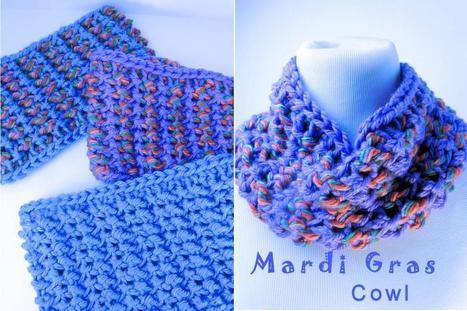 New Free Pattern: Mardi Gras Cowl | Crochet | Scoop.it