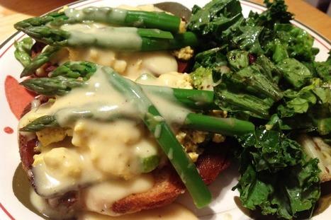 Asparagus Tofu Tartines With Light Hollandaise Sauce [Vegan] | My Vegan recipes | Scoop.it