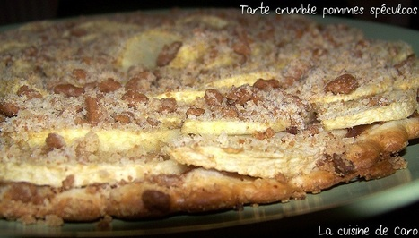 Tarte crumble pommes spéculoos | Desserts | Scoop.it