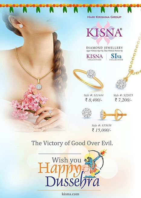 The Victory Of Good Over Evil...Wishing You All Happy Dussehra!  | Latest Indian Diamond Jewellery Designs | Scoop.it