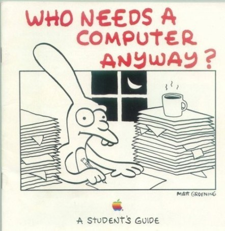 Matt Groening's Apple 'Student's Guide', 1989 | UnPeuDeToutNet | Scoop.it