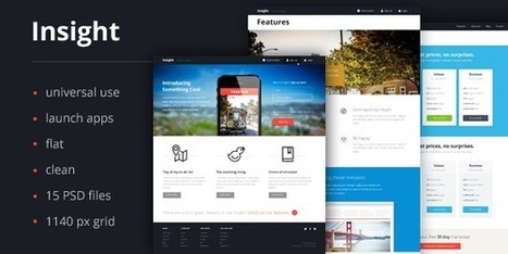 25 Beautiful Website PSD Templates for Creative Works of 2013 | Magento | Scoop.it
