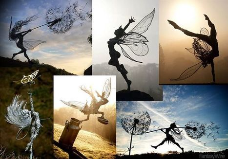Fantasy Wire Ltd. Wire Sculpture With a Twist | Landart, art environnemental | Scoop.it