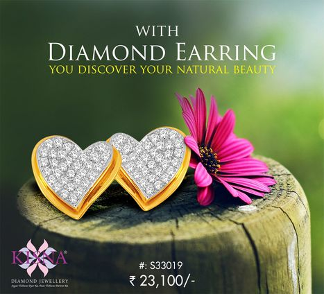 Discover your natural beauty with this pair of kisna diamond earrings.   Gold Diamond Jewellery Designs   Scoop.it