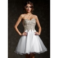 [US$ 169.99] A-Line/Princess Sweetheart Short/Mini Tulle Sequined Homecoming Dress With Beading (022009104)   Fashion   Scoop.it