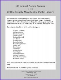 5th Annual Author Signing | Coffee County Manchester Public Library | Tennessee Libraries | Scoop.it