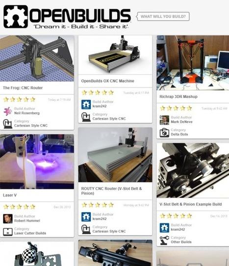 OpenBuilds : un nouveau site pour partager le design des imprimantes 3D | SocialWebBusiness | Scoop.it
