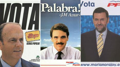Los carteles del PP y AP para las elecciones generales desde 1982 | Documedios | Scoop.it