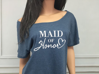 Trendy Indigo Maid of Honor Tshirt for Bridal Party | Weddings | Scoop.it