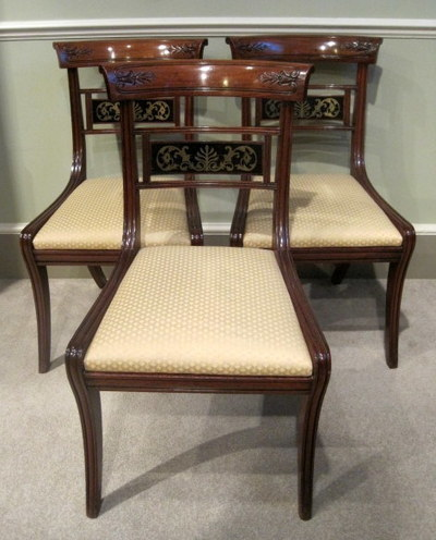 Set of Six Regency Mahogany and Brass inlayed Chairs|Seating & Stools,Some Recent Arrivals | Wilkinson Antiques | Scoop.it
