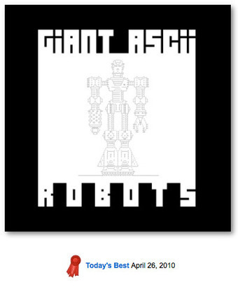 Joe's Giant Robots | ASCII Art | Scoop.it