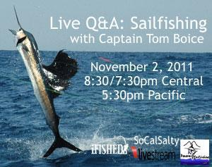 Live Q&A with Sailfish Captain Tom Boice | iFished | Fishing | Scoop.it