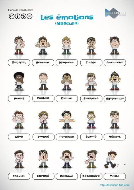 Le vocabulaire des émotions (au masculin) | Resources pour apprendre Français | Scoop.it