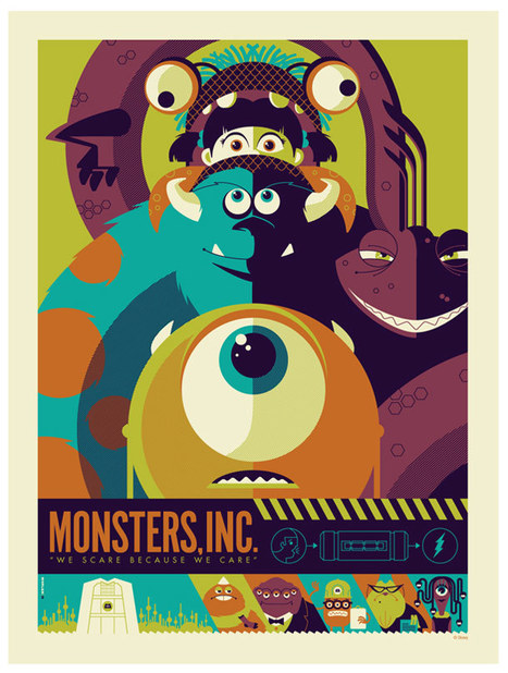Monster Inc, Mario, the Goonies… – 24 retro posters by Strongstuff | L'Art, le Graphisme, la Photo etc... | Scoop.it