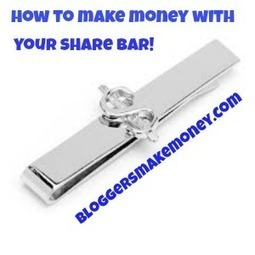 How To Make Money With Your Social Media Sharebar | Social Media Tips | Scoop.it