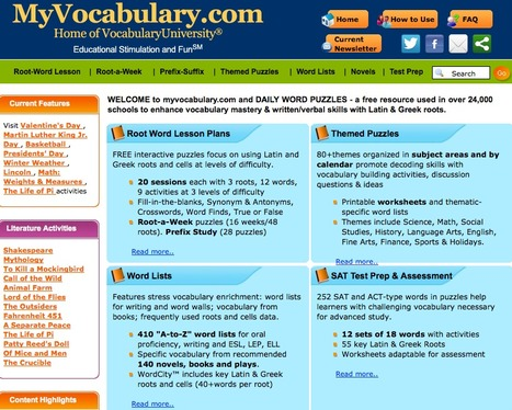 Vocabulary, Vocabulary Games - A Free Resource to Enhance Vocabulary | ENGLISH LEARNING 2.0 | Scoop.it