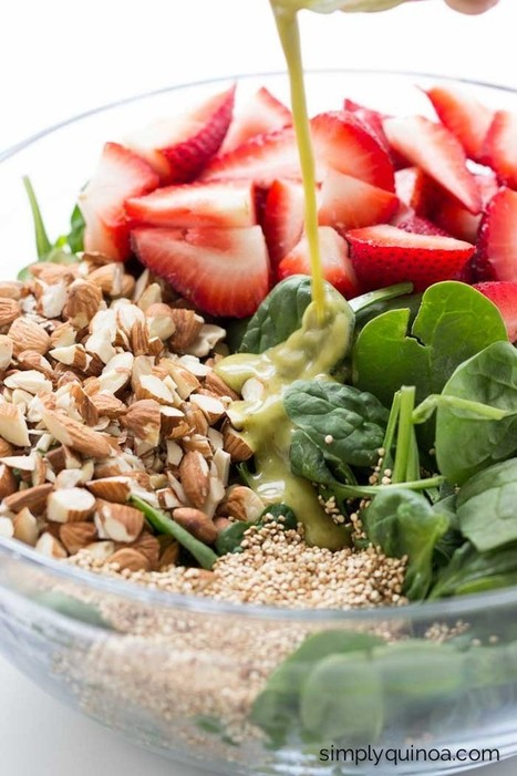 Strawberry Spinach Salad with Toasted Quinoa - Simply Quinoa | Nutrition | Scoop.it