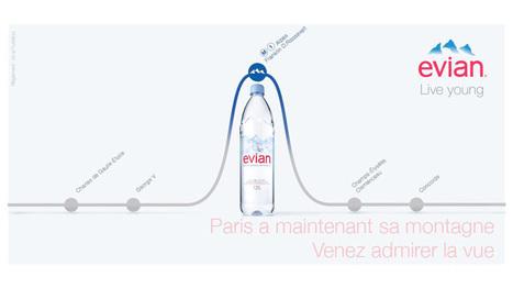 Evian installe les Alpes au cœur du métro parisien | Listen to web | Scoop.it