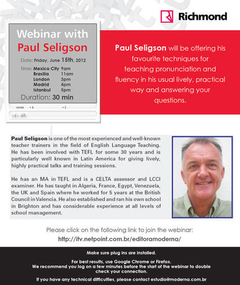 Webinar with Paul Seligson | ELT Journal | Scoop.it