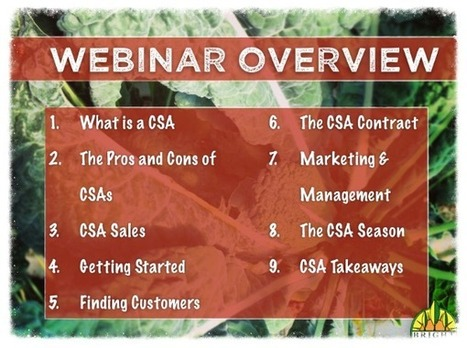 Webinar Recording: Starting a CSA | Vertical Farm - Food Factory | Scoop.it