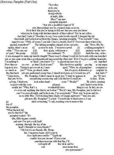 Obnoxious Pumpkin | ASCII Art | Scoop.it