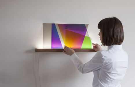 Prismatic Sheets of Glass Change Color When Layered Over Each Other   Le It e Amo ✪   Scoop.it