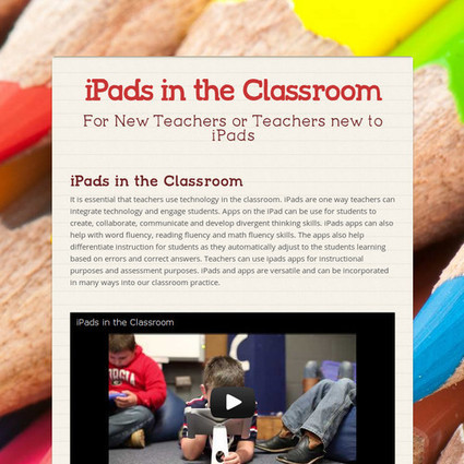 iPads in the Classroom   Professional Development   Scoop.it