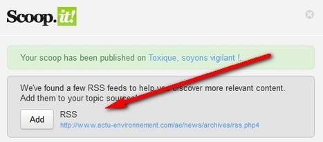 [Scoop.it] L'ajout automatique des flux RSS au suggested content | Scoop4learning | Scoop.it
