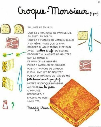 Croque-monsieur | FLE: LANGUE-CULTURE ET CIVILISATION-DIDACTIQUE | Scoop.it