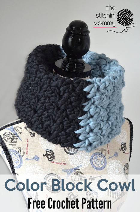 Color Block Cowl - Free Crochet Pattern - The Stitchin Mommy | Crochet Patterns and Tutorials | Scoop.it