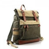 stylish tramp backpack in canvas and leahter | personalized canvas messenger bags and backpack | Scoop.it