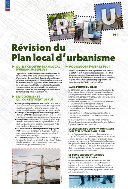 Révision du Plan Local d'Urbanisme | rouen.fr | Rouen | Scoop.it