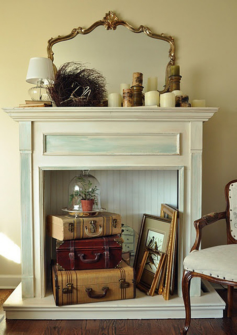 10 Creative Ways to Decorate Your Non-Working Fireplace | Designing Interiors | Scoop.it