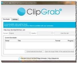 Zinfos: ClipGrab - Un outil idéal pour télécharger et convertir des vidéos | Geeks | Scoop.it