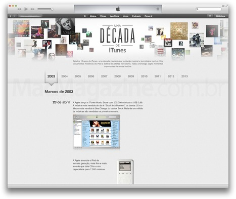 ↪ iTunes completa 10 anos e Apple comemora contando momentos importantes de sua história | Apple Mac OS News | Scoop.it