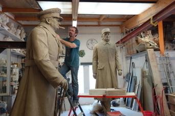 Un Alsacien sculpte Churchill et De Gaulle pour la ville de Calais | SCULPTURES | Scoop.it