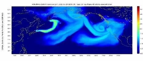 [infographie] La propagation du nuage radioactif en cesium 137 de Fukushima aux nord de l'Amérique | Desdemona Despair | Japon : séisme, tsunami & conséquences | Scoop.it
