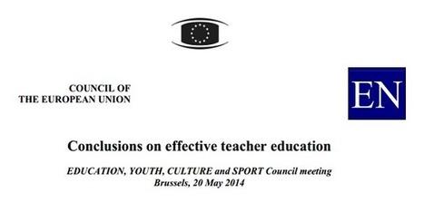 Conclusiones sobre formación docente eficaz (Consejo Unión Europea, mayo 2014) | Blog de INTEF | librosalsol | Scoop.it