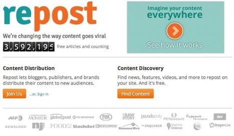 Repost, una nueva forma de sindicar contenido | Digital Branded Content | Scoop.it