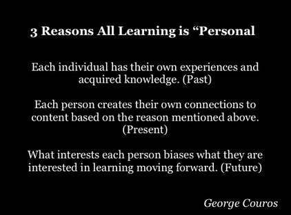 3 Reasons Why All Learning is Personal | APRENDIZAJE | Scoop.it