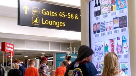 Tesco installe une épicerie virtuelle dans l'aéroport de Gatwick | Mobile & Magasins | Scoop.it