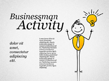 Businessman Activity Shapes   Diagrams and Charts for Presentations   Scoop.it