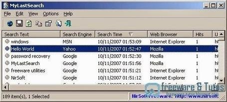 MyLastSearch : un logiciel portable pour voir les recherches effectuées sur votre navigateur internet   François MAGNAN  Formateur Consultant   Scoop.it