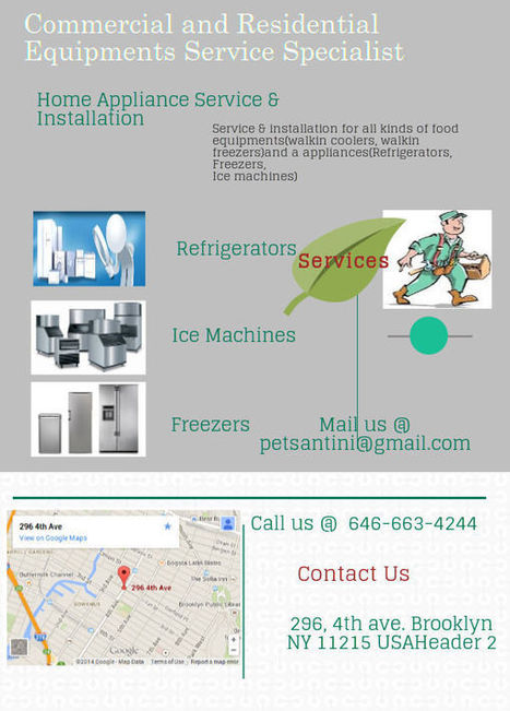 Commercial and Residential Equipments service Specialist | Walkin Cooler Repair | Scoop.it