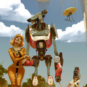Concept Art Writing Prompt: A Beach Vacation with the Robot Family | Developing the writer | Scoop.it