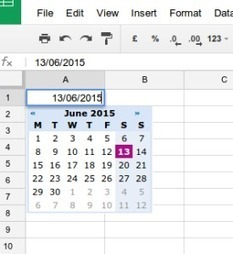 Using the Date Picker in Google Sheets | Technology in Today's Classroom | Scoop.it