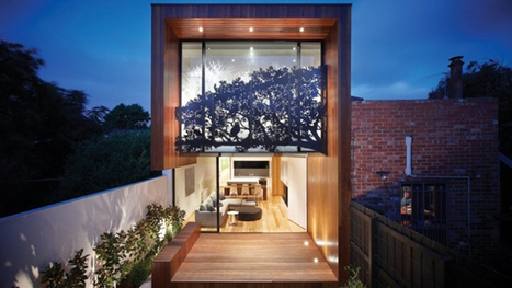 Nicholson House With A Unique Tree Steel Applique | Home Design Lover | Architecture and Architectural Jobs | Scoop.it