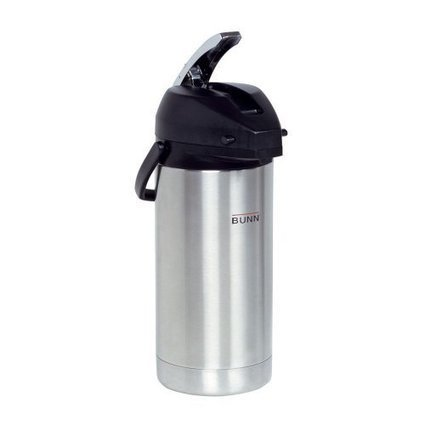 BUNN  32130.0000 3.0-Liter Lever-Action Airpot, Stainless Steel | Best Coffee Makers Reviews | Scoop.it